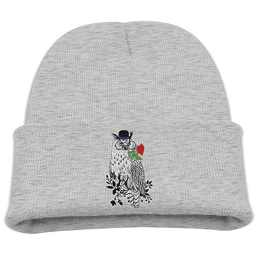 e90feabf7df Amazon.com  Zsdjr Cap Owl Rose Funny Cartoon Girls Beanie Skull Cap ...