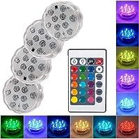 OYJJ Luz Subaquática, Lâmpada de Piscina com Controle Remoto, Luz RGB Multicolorida para Lago, luz subaquática LED para…