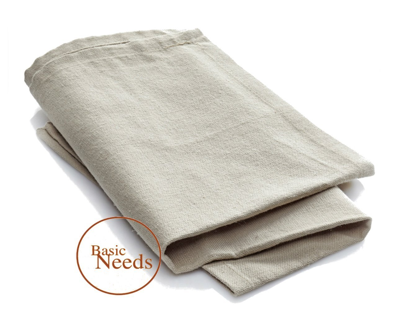 Basic Needs Baker' s Couche Flax Linen Proofing Cloth - Kitchen Linen Accessories for Baking French Bread, Baguettes, Loafs and more!