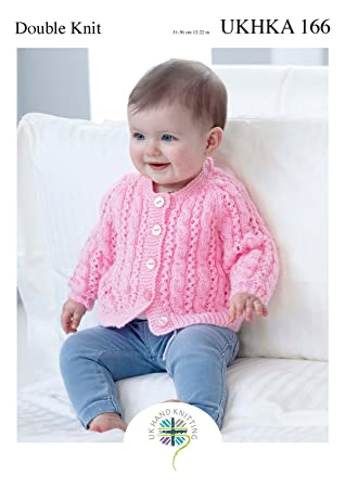 a906de715 Amazon.com  Double Knitting Pattern for Baby Lace Detail Round or V ...