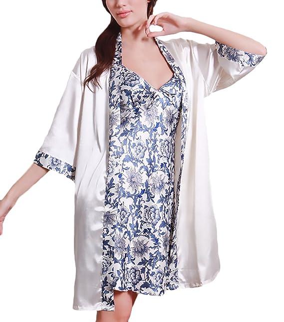 6d537d5b96 Camison Mujer Corto Elegante Primavera Verano Sin Mangas V Cuello Vestidos  Pijama Impresión Floral Moda Modernas Casual Sencillos Homewear Pijamas  Mujeres ...