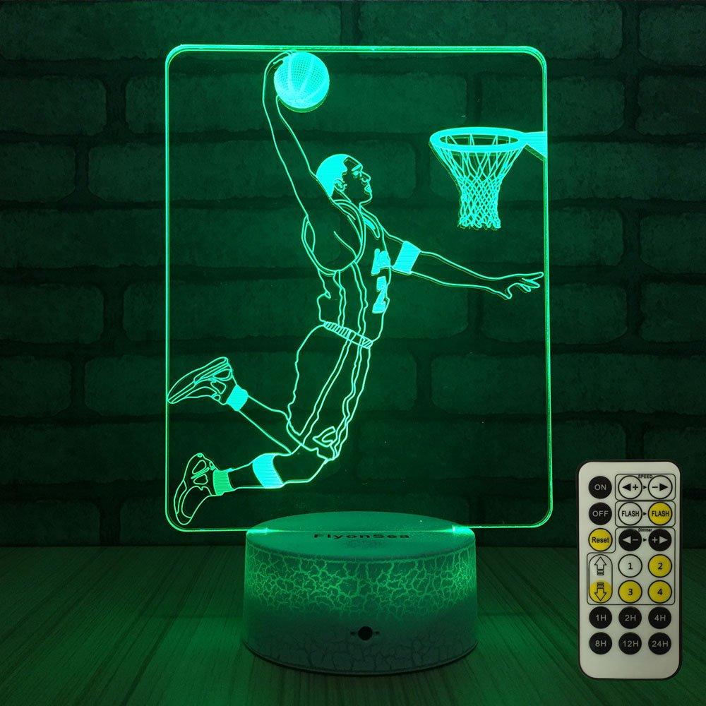flyonsea Night Lights for Kids Besideランプ7色変更+リモート制御タイマー子供用ナイトライトOptical Illusion Lamps for kidsランプとしてギフトIdeas for Boys or Girls B07CWDMYPW 17037 Slam Dunk Slam Dunk