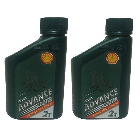 500 ml Botella de Shell Advance 2 Stroke Semi Aceite sintético 500 ml, Patinete Cortacésped