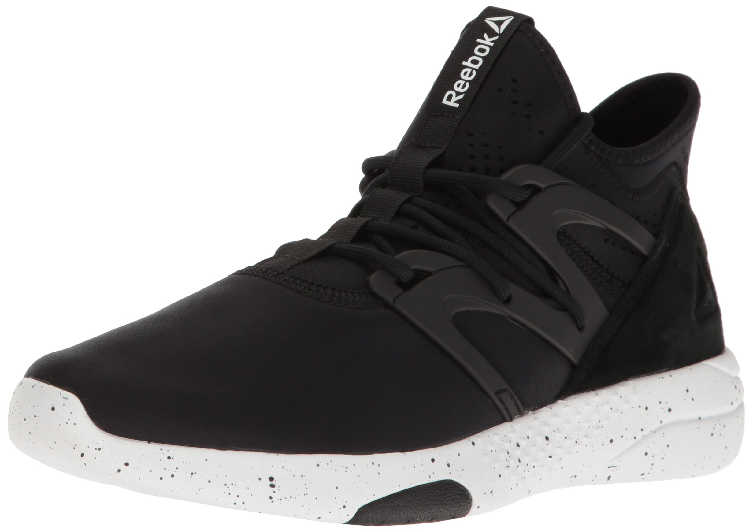 Reebok Women's Hayasu Dance Shoe, Black/White, 7.5 M US
