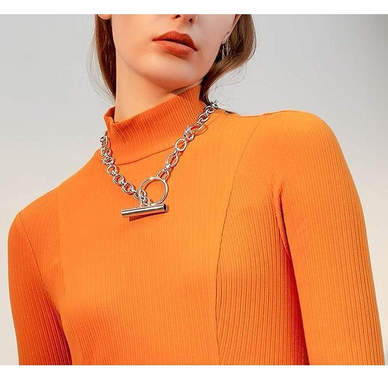 Minusone Brief New Geometric Circles Alloy Necklace Punk Women Dress Sweater Accessory