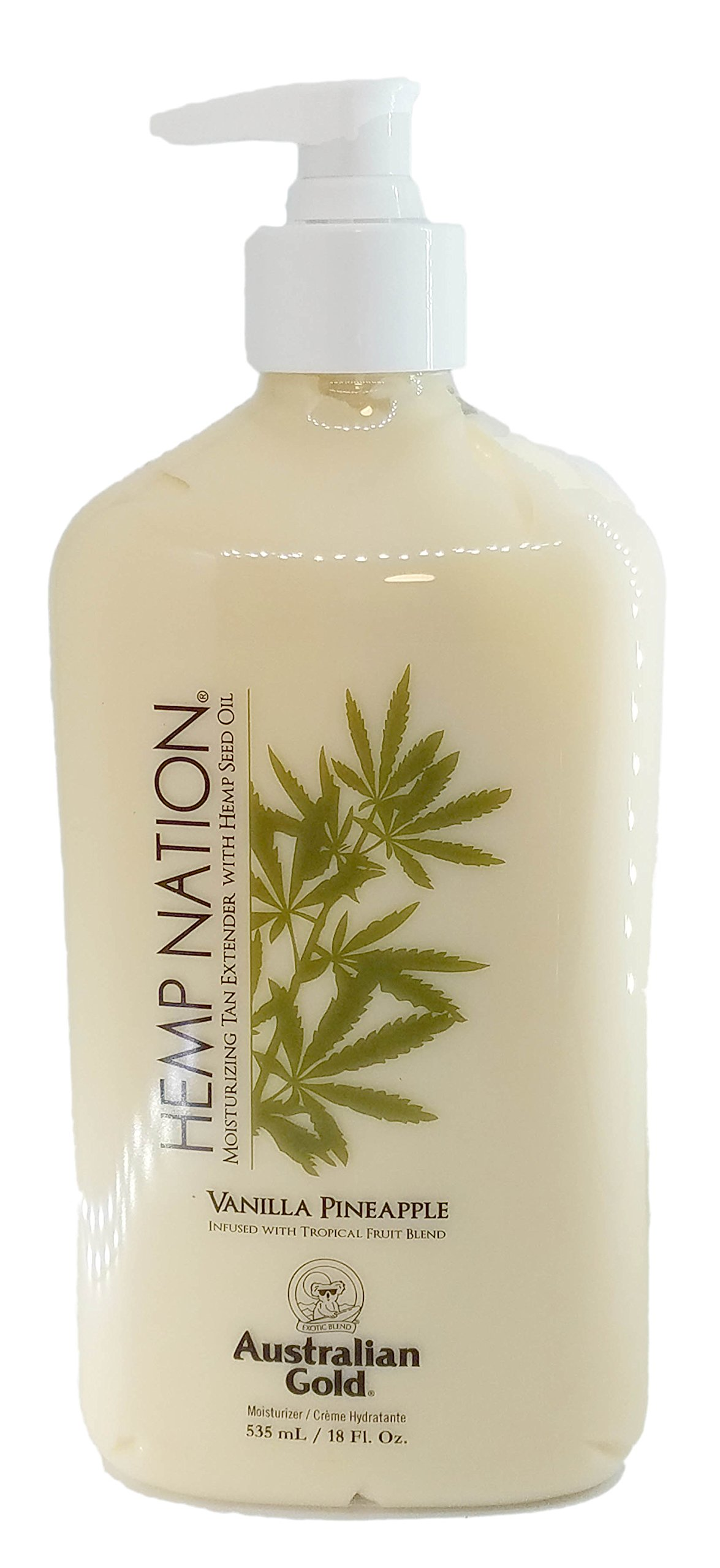 Australian Gold Hemp Nation Moisturizing Tan Extender, Vanilla Pineapple, 18 Fluid Ounce