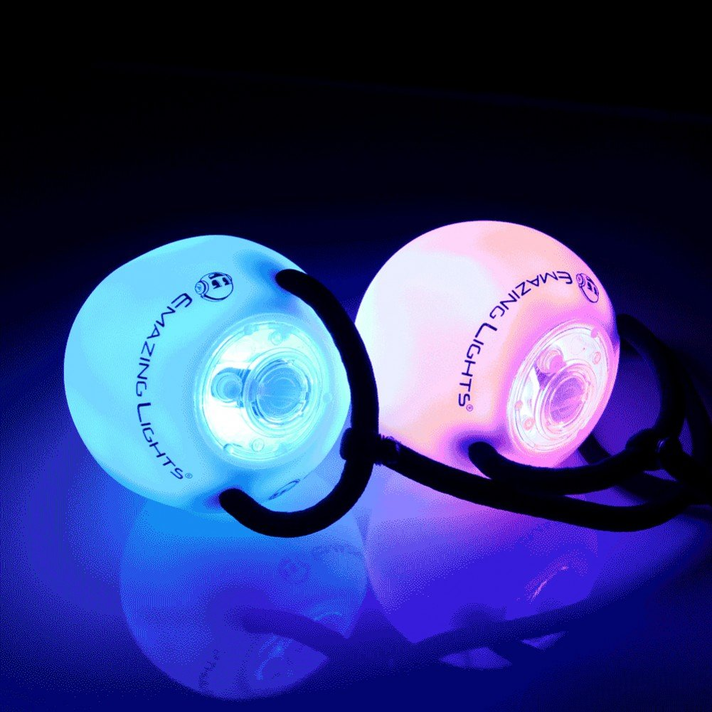 EmazingLights Elite Flow Rave Poi Balls - Spinning LED Light Toy (Set of 2) by EmazingLights