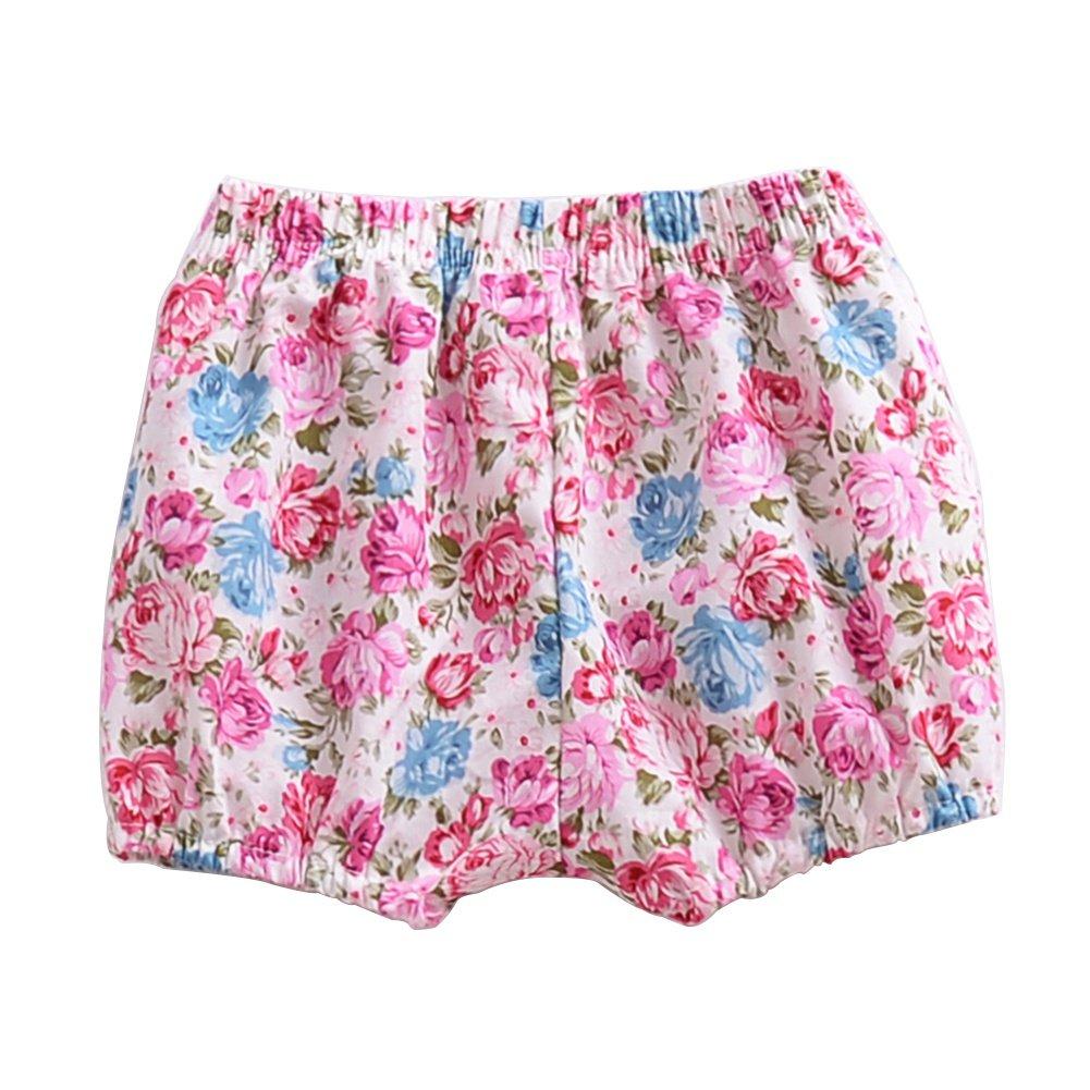ESHOO Baby Girl Floral Bloomer Shorts Bottoms