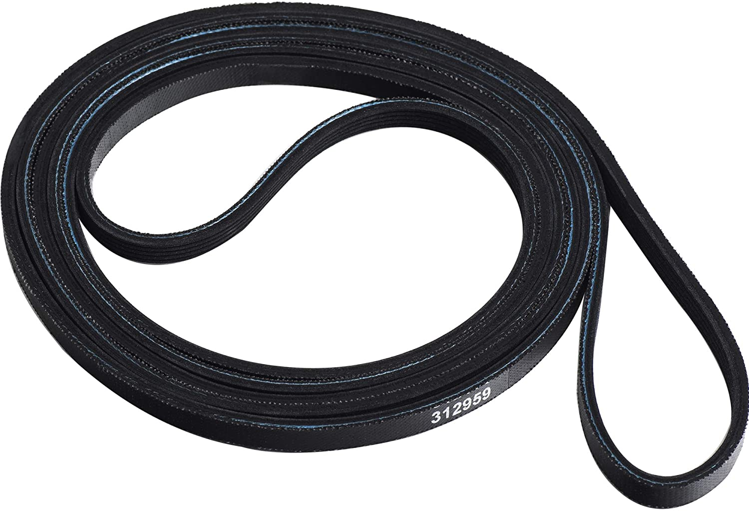 Ultra Durable 312959 (Y312959, WPY312959) Dryer Drum Belt Replacement Part by Blue Stars - Exact Fit for Whirlpool Maytag Jenn-Air International Dryers - Replaces 314774 WPY312959VP PS11757542