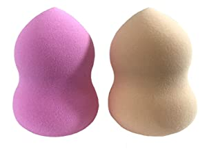 Essencell Cosmetic Pro Makeup Blender Sponges 2pc Pack - Easily Blend Liquid Foundation,Highlight and Contour-Flawless Sponge Applicator