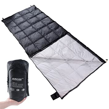 Aircee Ultralight Sleeping Bag With Compression Sack 50 65 Degree Cool Weather