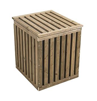 Garten Box auflagenbox holz regendicht sitzstabil auflagen gartenbox truhe
