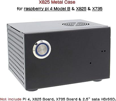 Geekworm Raspberry Pi X825 - Carcasa de Metal a Juego + ...