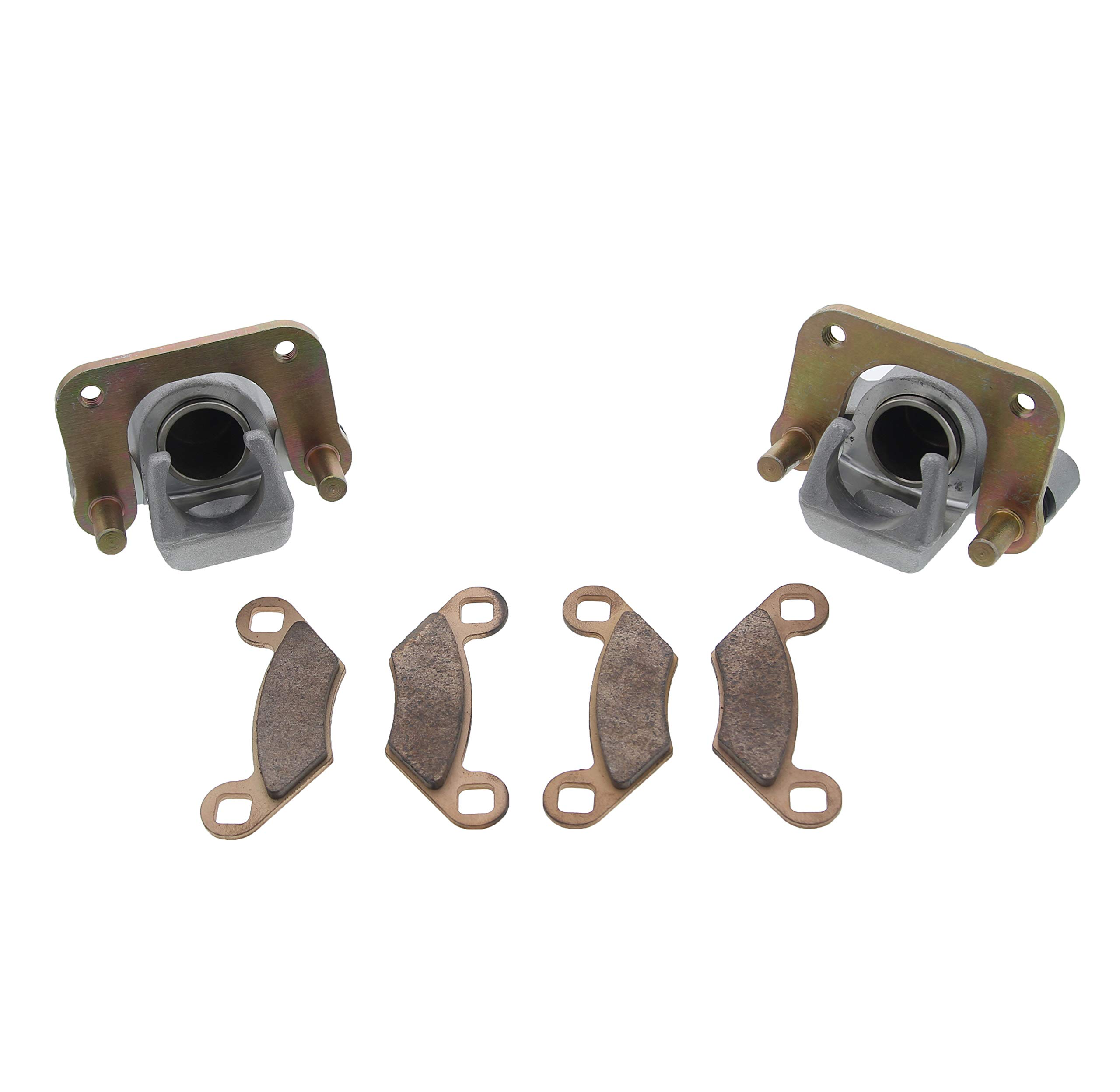 Race Driven OEM Replacement Front Right Left Brake Calipers & Pads for Polaris Sportsman Magnum Trail Boss Trail Blazer