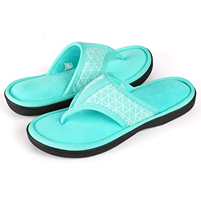 8fe3f4f99 ULTRAIDEAS Women s Memory Foam Flip Flop Slippers with Cozy Terry Lining