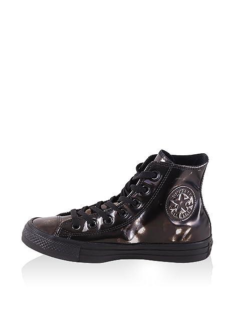 Converse All Star Hi Metallic Textile GUNMETAL WHITE BLACKSilver