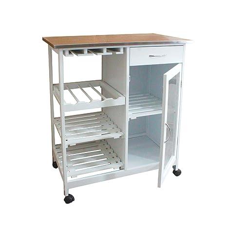 Carro de almacenamiento de cocina de gran capacidad de almacenamiento con 4 capas extraíble para almacenamiento