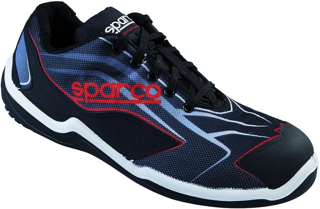 New Sparco 2015/16 S1P - Zapatos de seguridad para hombre (tallas 40, 41, 42, 43, 44, 45 y 46), color negro y rojo: Amazon.es: Bricolaje y herramientas