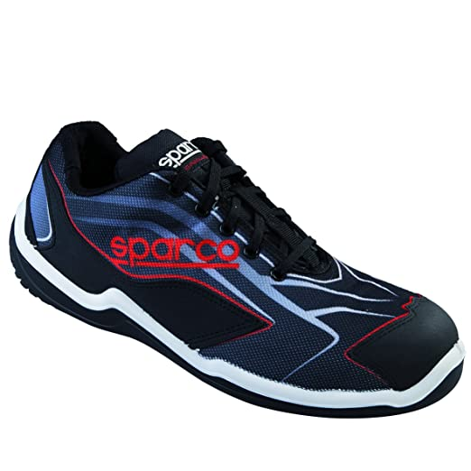New Sparco 2015/16 S1P - Zapatos de seguridad para hombre (tallas 40, 41, 42, 43, 44, 45 y 46), color negro y rojo, 52002
