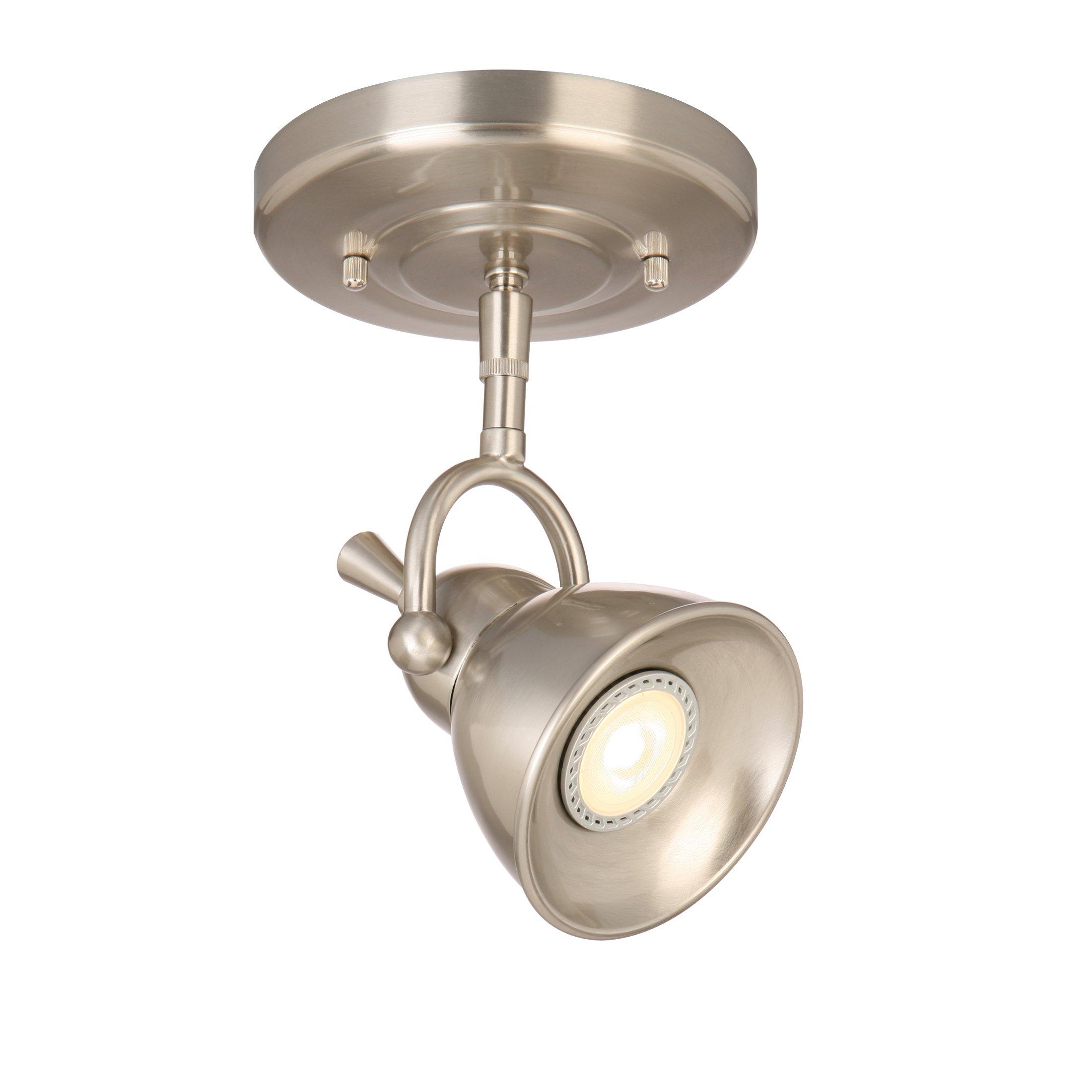 Design House 578021 Pierce single-Light Led Directional Ceiling Light, Satin Chrome,