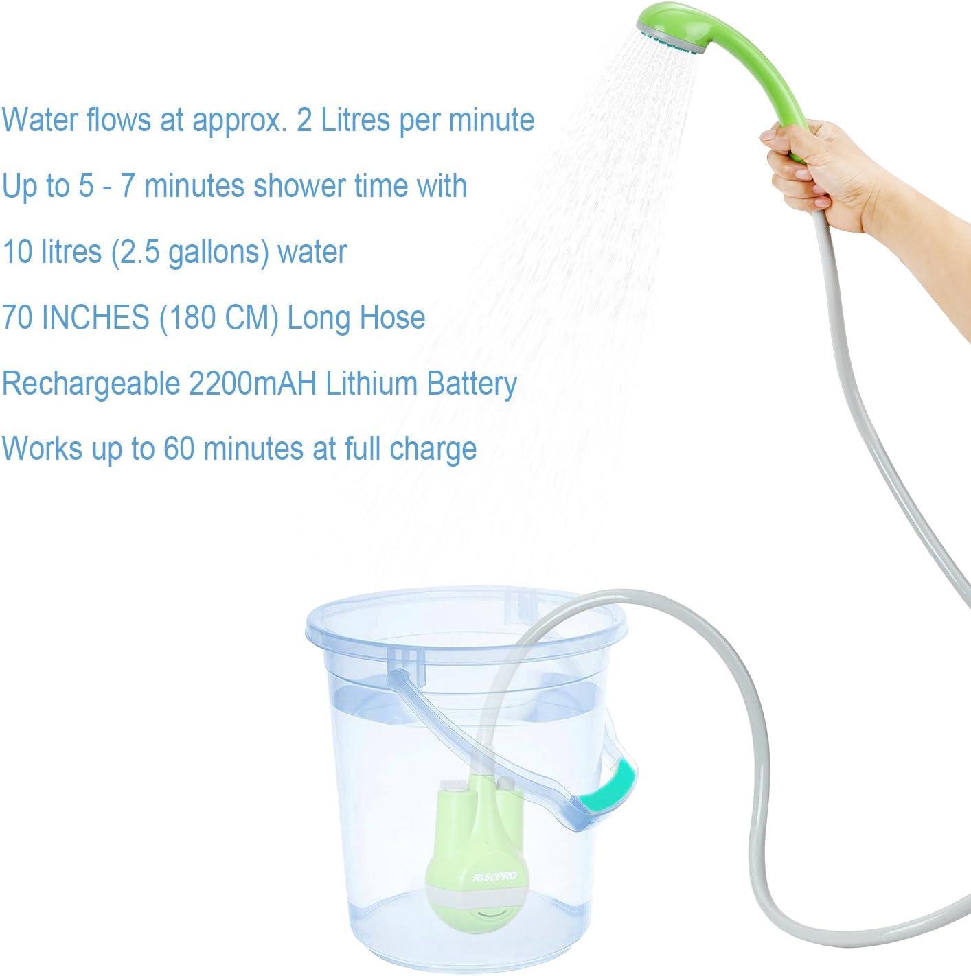 Isabella Rechargable Water Pump// Shower USB Rechargable Outside Shower