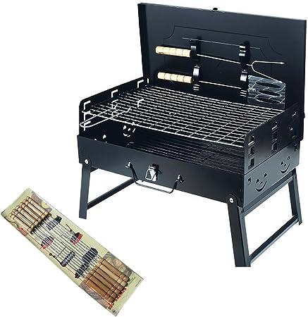 Barbecue Pliant Portable Charbon Hauteur Réglable BBQ Grille