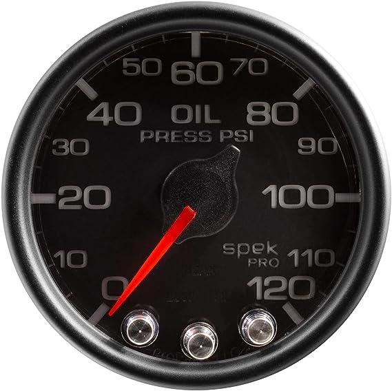Oil Press Spek-Pro 2 1//16 120Psi Auto Meter P32531 Gauge Stepper Motor W//Peak /& Warn Blk//Chrm