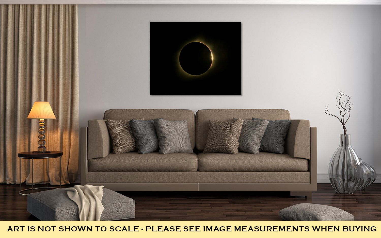 Ashley Canvas Total Solar Eclipse with Bailey Beads and Prominence, Wall Art Home Decor, Ready to Hang, Color, 16x20, AG6464623