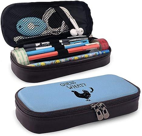 Losion Guess What3 - Estuche para lápices y bolígrafos (Piel sintética, Gran Capacidad): Amazon.es: Hogar