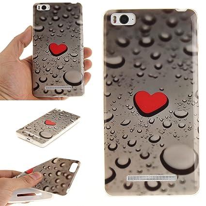 Guran® Silicona Funda Carcasa para Xiaomi Mi 4C Smartphone Case Bumper Shock TPU Cover-Gotas de lluvia