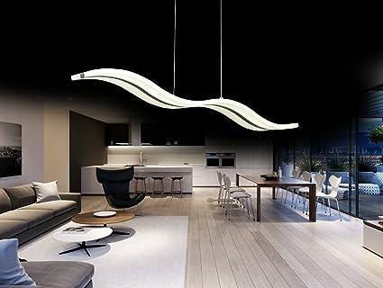 Create For Life® Lámpara colgante LED de diseño moderno,techo luz ...
