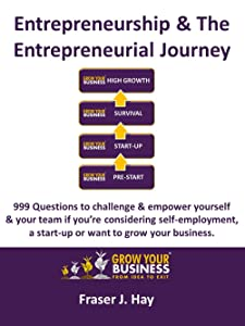 Entrepreneurship & The Entrepreneurial Journey: 999 Questions to challenge & empower yourself & your team if you're considering self-employment,  a start-up or want to grow your business.