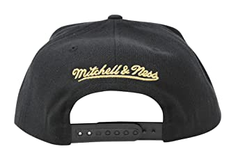 brand new 17160 2a231 Mitchell   Ness Limited Edition Philadelphia 76ers NBA Black   Metallic  Gold Cropped XL Logo SMU Snapback Adjustable Cap at Amazon Men s Clothing  store
