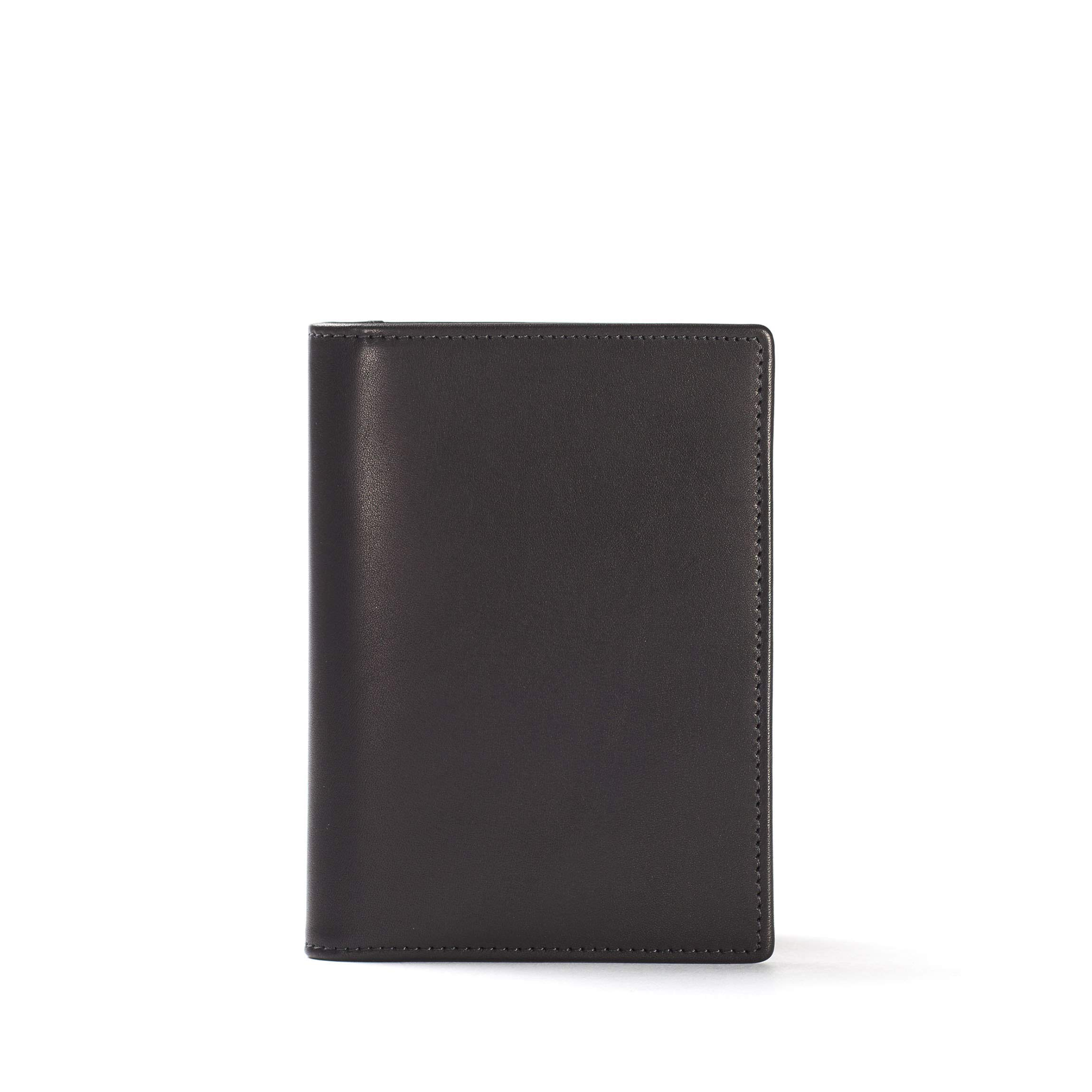 Deluxe Passport Cover - Full Grain German Leather Leather - Black Oil (black)
