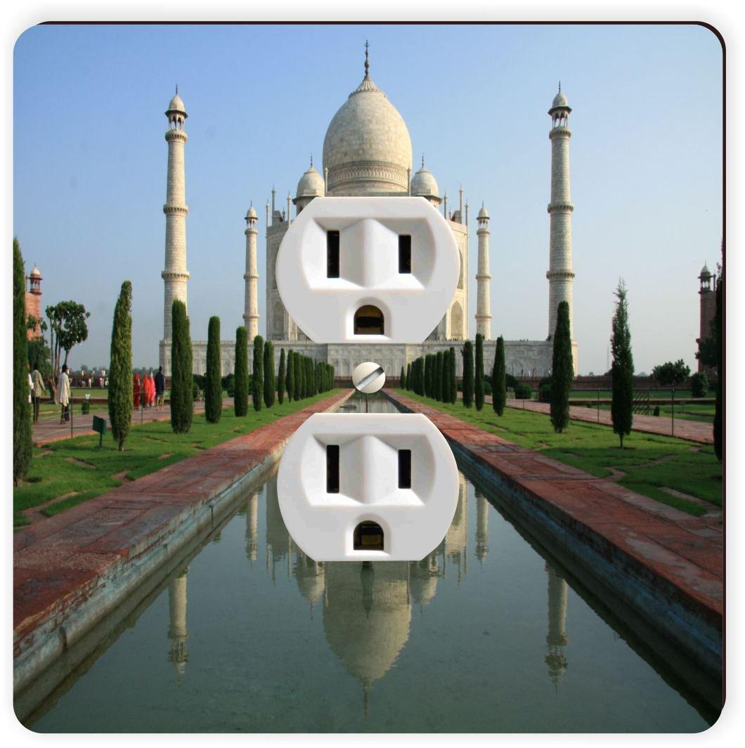 Rikki Knight Taj Mahal, Agra, India Single Outlet Plate