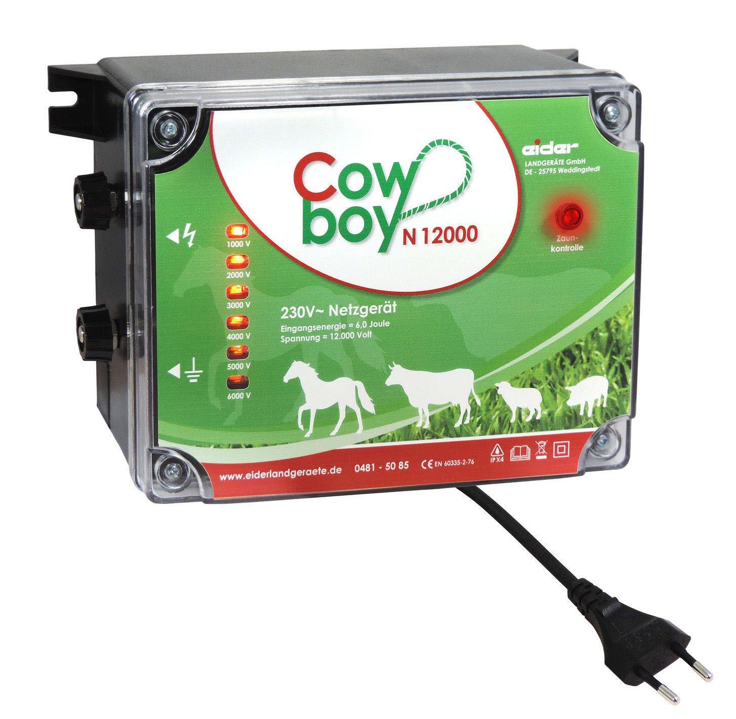 Weidezaungerät N12000 - 230V - Extra Power : 230V, 6 Joule, 12000 Volt