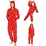 Red Easong Family Matching Christmas Hooded Onesie Pj Santa Print Christmas Bodysuits Christmas Onesie