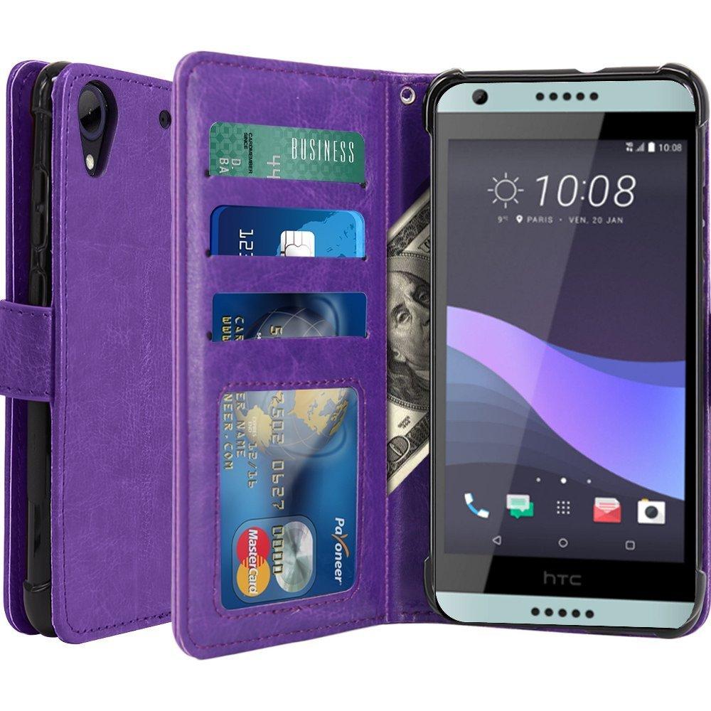 HTC Desire 650ケース、スコットランドの高級PUレザーウォレットケースフリップカバー付きカードスロット&スタンドHTC Desire Desire Desire B071FRLRHG 650(パープル) B071FRLRHG, 甲斐市:fffe7860 --- cooleycoastrun.com