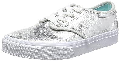 765a60b5b4c4fc Vans My Camden Metallic Silver Leather 10.5 M US Little Kid