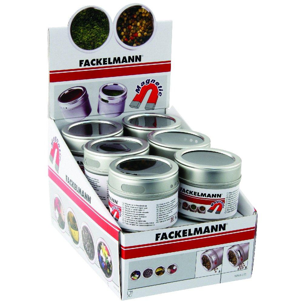 Fackelmann SBBox 02508 Spice Tin 6.2 cm x 5.5 cm Magnetic Cooking