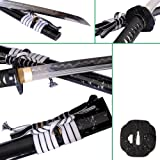 Lyuesword Japanese Functional Clay Tempered Full Tang Sword Battle Ready Folded Steel Katana Sword Razor Sharp
