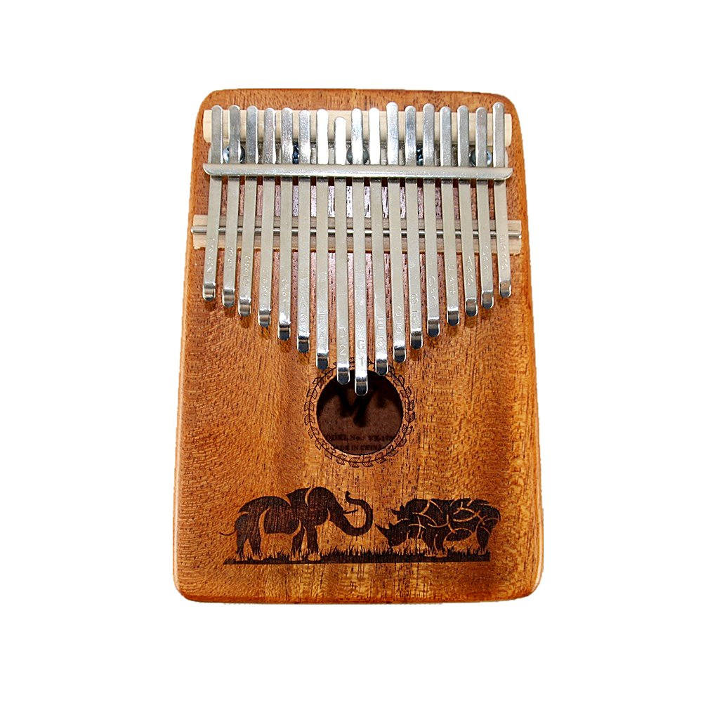 TRSCIND Kalimba 17 Key Thumb Piano Toy with Tuning Hammer and Study Instruction,Musical Toys Easy-to-Learn Well Suit for Kids, Students, Music Lover
