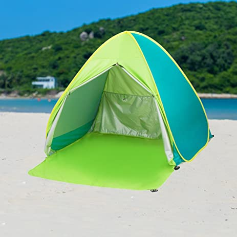 Pop Up TentBeach Umbrella Easy Up Beach Tents UV Protection Sun Shelter Beach & Amazon.com : Pop Up Tent Beach Umbrella Easy Up Beach Tents UV ...
