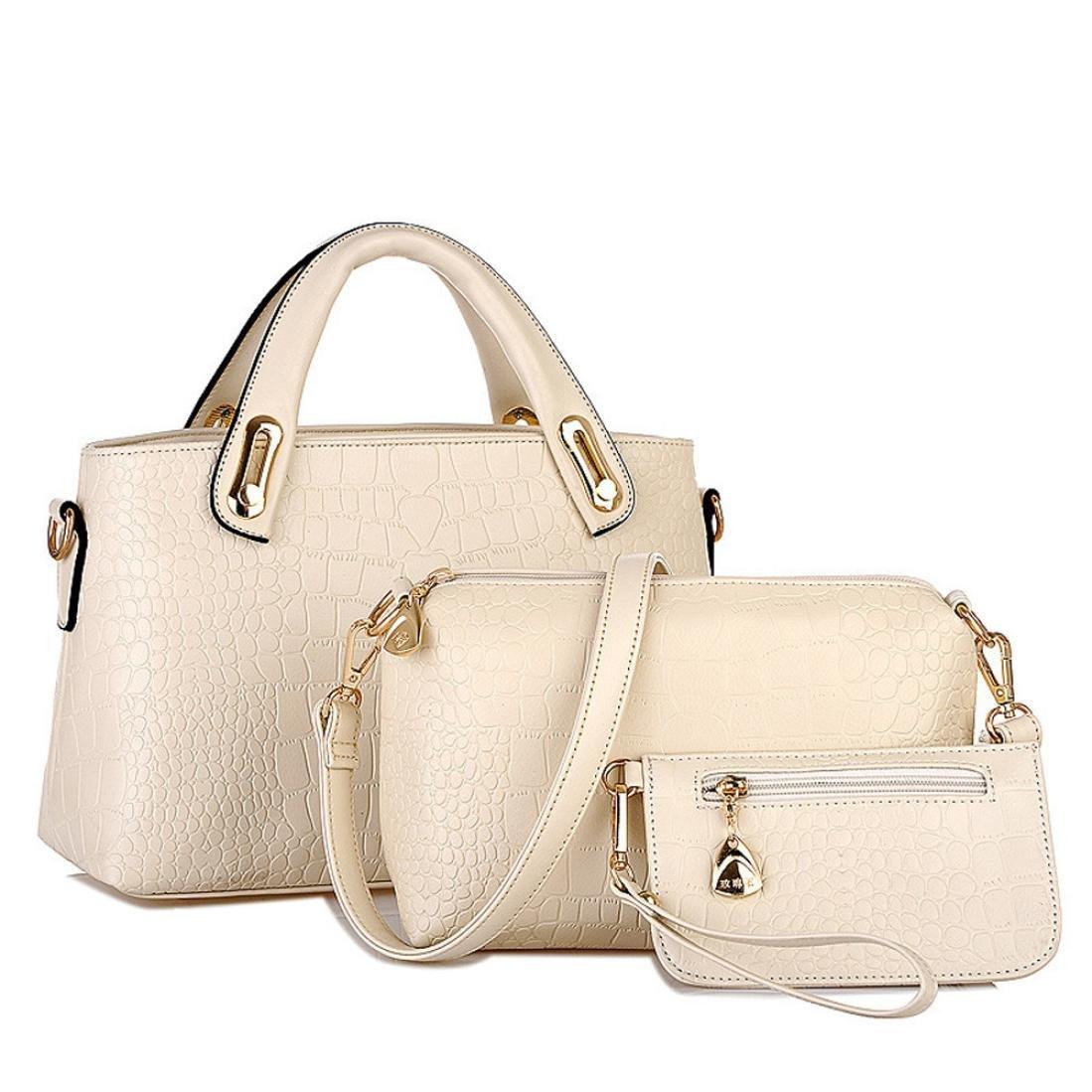 Franterd Women Ladies PU Leather Handbag Shoulder Bags Tote Purse Set