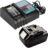 18V 5.0Ah BL1850B Li-Ion accu met DC18RC oplader 3A met LED vervanging voor Makita BL1830 BL1840 BL1860 18 Volt LXT…