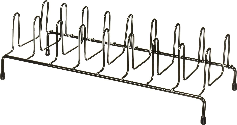 Home Basics Heavyweight Plate Organizer Rack, Black Onyx