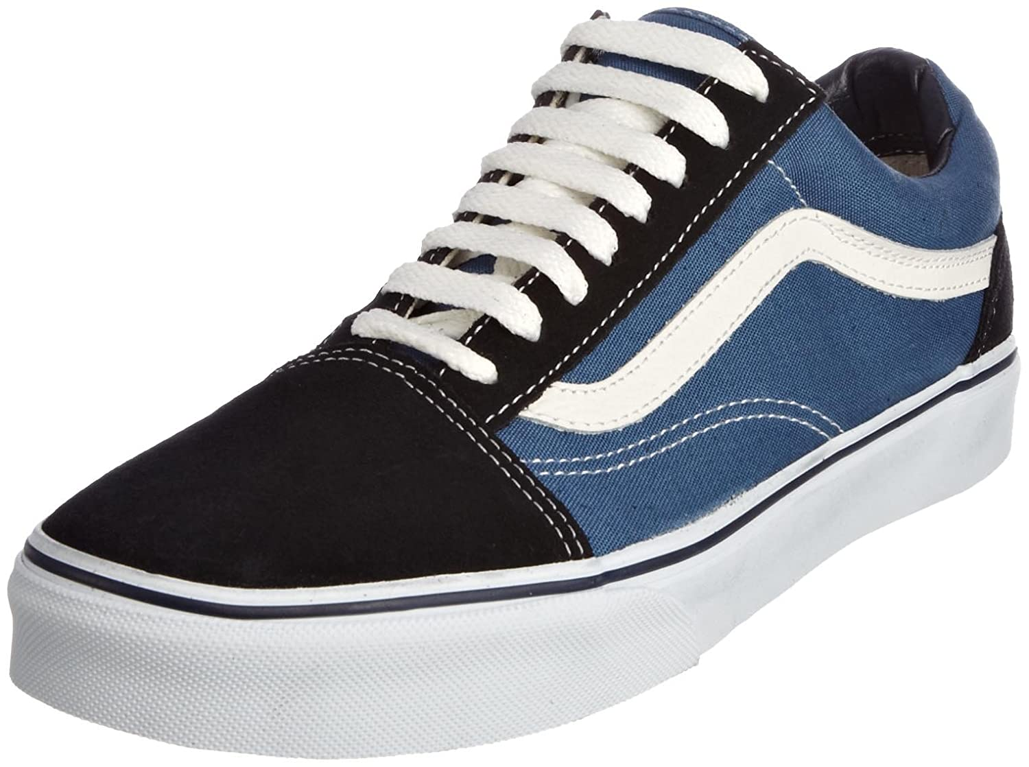 Vans Unisex Old Skool Classic Skate Shoes B000NP41Z2 10.5 D(M) Mens / 12 B(M) Womens|Navy/White