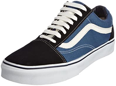 Vans Men's Old Skool(tm) Core Classics, Navy Blue Womens 12