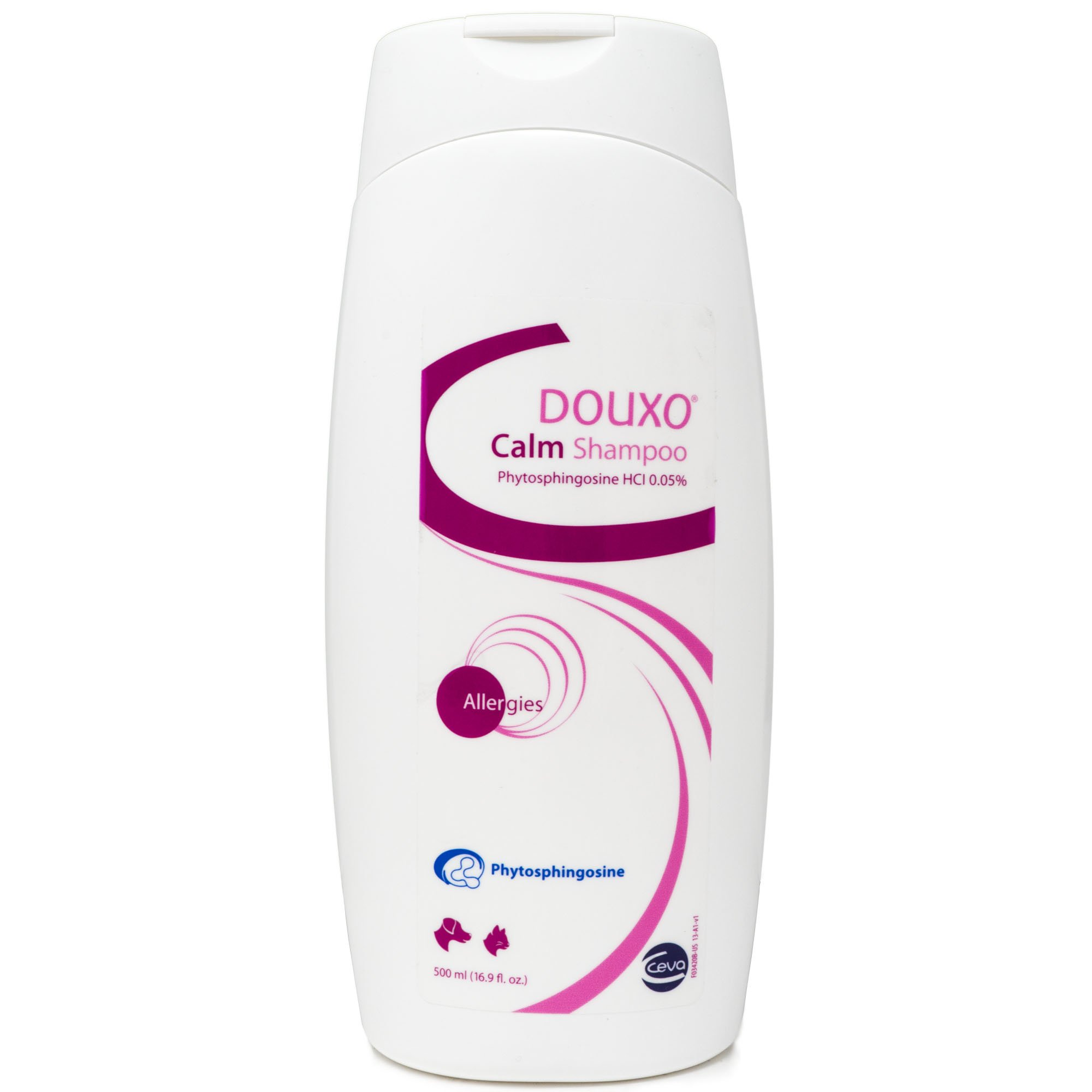 CEVA Animal Health Douxo (Sogeval) Calm Shampoo for Dogs & Cats (500 ml) - Topical Solution for Allergies