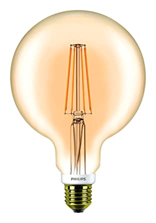 Philips Classic LED regulable oro G120 Vintage Filamento Globe Luz, claro, 7 W,